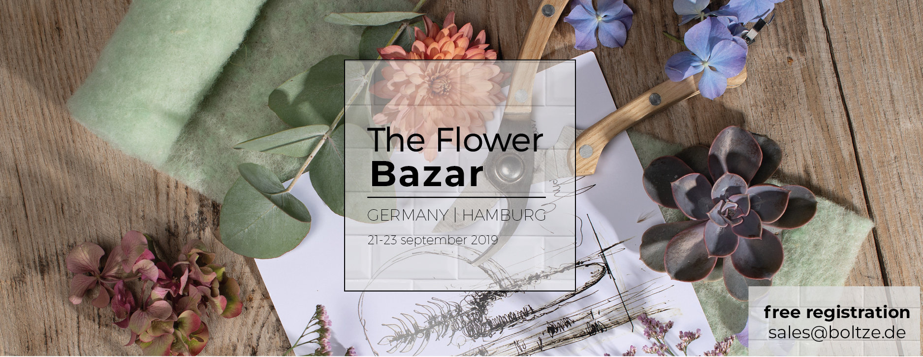 The Flower Bazar @Boltze 2019
