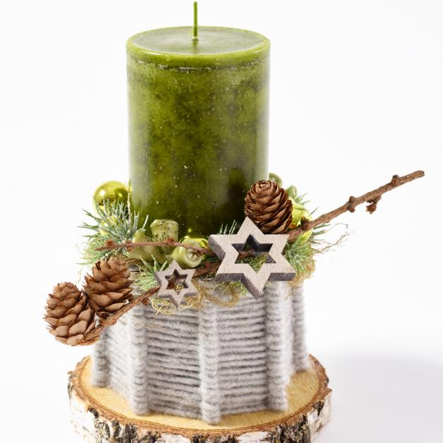 DIY Adventsdeko natur